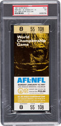 Football Collectibles:Tickets, 1967 Super Bowl I Full Ticket PSA NM 7 - Second Highest Graded! ...