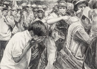 Rirkrit Tiravanija (Thai, b. 1961) Untitled (Demonstration no. 24), 2002 Pencil on paper 20-1/2 x