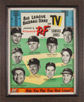 """Baseball Collectibles:Others, 1953 P.F. Flyers """"Big League Baseball Stars on TV"""" AdvertisingSign...."""