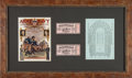 Football Collectibles:Tickets, 1926 Army vs. Navy Program & Ticket Stub Display - The Opening of Soldier Field. ...