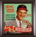 Baseball Collectibles:Others, 1947 Stan Musial Chesterfield Cigarettes Advertising Sign....