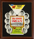 "Baseball Collectibles:Others, 1950's PF Canvas Shoes ""Big League Stars on TV"" Advertising Display. ..."