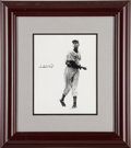 Baseball Collectibles:Photos, Circa 1980 Satchel Paige Signed Photograph....
