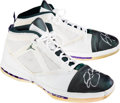 Basketball Collectibles:Others, Circa 2001 Ray Allen Game Worn Milwaukee Bucks Joran XVI Colorway Shoes. ...