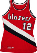 Basketball Collectibles:Uniforms, 1980-82 Billy Ray Bates Game Worn Portland Trailblazers Jersey& Shorts. ...