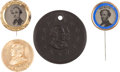 Political:Ferrotypes / Photo Badges (pre-1896), Horatio Seymour: Four Campaign Badges.... (Total: 4 Items)