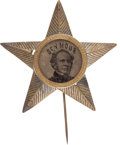 Political:Ferrotypes / Photo Badges (pre-1896), Horatio Seymour: Ferrotype Stickpin. ...