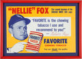 Baseball Collectibles:Others, Late 1950's Nellie Fox Favorite Tobacco Advertising Sign. ...