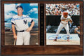 Baseball Collectibles:Photos, 1990s Mickey Mantle and Pete Rose Multi Signed Display....