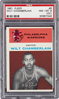 Basketball Cards:Singles (Pre-1970), 1961 Fleer Wilt Chamberlain #8 PSA NM-MT 8 (OC)....