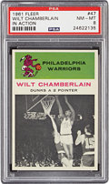 Basketball Cards:Singles (Pre-1970), 1961 Fleer Wilt Chamberlain IA #47 PSA NM-MT 8....