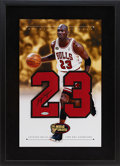 Basketball Collectibles:Photos, Circa 2000 Michael Jordan Signed Jersey Number Framed UDAArtwork....