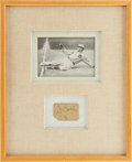 Baseball Collectibles:Others, 1920's Ty Cobb Signed Cut with Photograph Display....