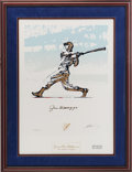 Baseball Collectibles:Others, 1996 Joe DiMaggio Signed Carlo Beninati Lithograph....
