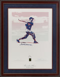 Baseball Collectibles:Others, 1996 Ted Williams Signed Carlo Beninati Lithograph....