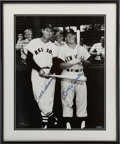 Baseball Collectibles:Photos, 1990's Mickey Mantle & Ted Williams Signed UDA OversizedPhotograph....