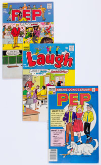 Laugh Comics and Pep Group of 70 (Archie, 1970-87) Condition: Average FN.... (Total: 70 Comic Books)
