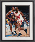 Basketball Collectibles:Photos, 2000's Michael Jordan & Kobe Bryant Signed UDA OversizedPhotograph....