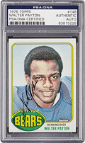 Autographs:Sports Cards, 1976 Topps Walter Payton #148 PSA/DNA Authentic. ...