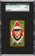 Baseball Cards:Singles (Pre-1930), 1911 T205 Sweet Caporal Walter Johnson SGC 92 NM-MT+ 8.5 - TheUltimate Graded Example! ...