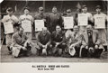 Baseball Collectibles:Others, 1937 All America Board and Players Photograph, PSA/DNA Type 1....