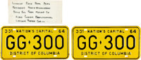 John F. Kennedy: Dallas Limousine License Plates