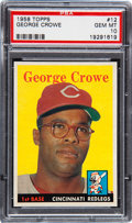 Baseball Cards:Singles (1950-1959), 1958 Topps George Crowe #12 PSA Gem Mint 10 - Pop One!...