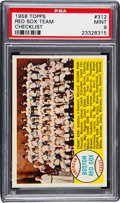 Baseball Cards:Singles (1950-1959), 1958 Topps Red Sox Team #312 PSA Mint 9 - Pop Three, NoneHigher!...