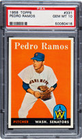 Baseball Cards:Singles (1950-1959), 1958 Topps Pedro Ramos #331 PSA Gem Mint 10 - Pop One!...