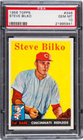 Baseball Cards:Singles (1950-1959), 1958 Topps Steve Bilko #346 PSA Gem Mint 10 - Pop Two!...