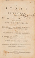 Books:Americana & American History, [Revolutionary War]. [John Burgoyne]. A State of the Expeditionfrom Canada, as Laid Before the House of Commons... ...