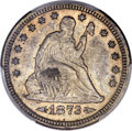 Seated Quarters, 1873-CC 25C Arrows AU55 PCGS. Briggs 1-A....