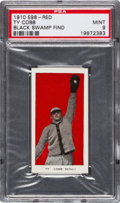 "Baseball Cards:Singles (Pre-1930), 1910 E98 ""Set of 30"" Ty Cobb - Red (Black Swamp Find) PSA Mint9...."