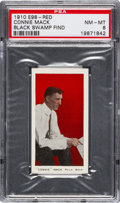 """Baseball Cards:Singles (Pre-1930), 1910 E98 """"Set of 30"""" Connie Mack - Red (Black Swamp Find) PSA NM-MT 8 - Highest Grade Still Available. ..."""