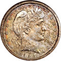 Barber Quarters, 1897-S 25C MS67 NGC. CAC....