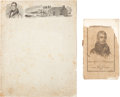 Political:Small Paper (pre-1896), William Henry Harrison: Songbook and Lettersheet.... (Total: 2Items)
