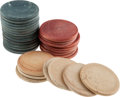 Political:Presidential Relics, Warren G. Harding: Pile of Poker Chips....