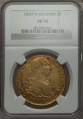 Colombia, Colombia: Charles IV gold 8 Escudos 1802 P-JF AU55 NGC,...
