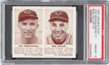 Baseball Cards:Singles (1940-1949), 1941 R330 Double Play Krakauskas/Feller #77/78 PSA NM-MT 8. ...