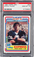 Football Cards:Singles (1970-Now), 1984 Topps USFL Steve Young #52 PSA Gem Mint 10....