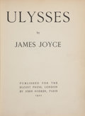 Books:Literature 1900-up, James Joyce. Ulysses. Paris: Published for the Egoist Press,London, by John Rodker, 1922. First British edition (p...
