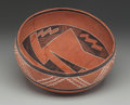American Indian Art:Pottery, A Four Mile Polychrome Bowl. c. 1100 - 1300 AD...