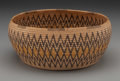 American Indian Art:Baskets, A Panamint Polychrome Coiled Bowl. c. 1920...