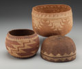 American Indian Art:Baskets, Three Northern California Twined Basketry Items . ... (Total: 3 )