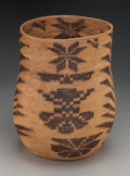 American Indian Art:Baskets, A Large Mission Coiled Storage Jar . c. 1890...
