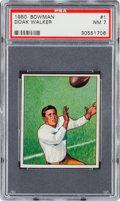 Football Cards:Singles (1950-1959), 1950 Bowman Doak Walker #1 PSA NM 7....