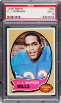 Football Cards:Singles (1970-Now), 1970 Topps O.J. Simpson #90 PSA Mint 9 - None Higher. ...