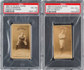 Baseball Cards:Lots, 1887 N172 Old Judge Jack Clements Pair (2). ...