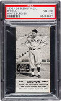 Baseball Cards:Singles (1930-1939), 1933-36 E137 Zeenut Lefty O'Doul, with Coupon PSA VG-EX 4 - Highest Graded of Only Two! ...