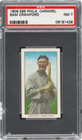 Baseball Cards:Singles (Pre-1930), 1909 E95 Philadelphia Caramel Sam Crawford PSA NM 7 - Pop Two, OneHigher....